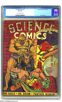 Science Comics #4 (Fox, 1940) CGC FN 6.0 Cream to off-white pages. Jack Kirby and Joe Simon contribute to this uncommon...