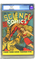 Golden Age (1938-1955):Science Fiction, Science Comics #5 (Fox, 1940) CGC VF- 7.5 Cream to off-white pages.Fox Features Syndicate's Eagle flutters onto this cover ...