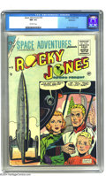 Golden Age (1938-1955):Science Fiction, Space Adventures #18 Bethlehem pedigree (Charlton, 1955) CGC NM 9.4Off-white pages. TV's Rocky Jones, space explorer, stars...