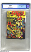 Golden Age (1938-1955):Superhero, Speed Comics #14 Mile High pedigree (Harvey, 1941) CGC VF/NM 9.0 Off-white pages. This was only the second comic book from o...