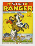 "Platinum Age (1897-1937):Miscellaneous, Star Ranger #1 (Centaur, 1937) Condition: VG/FN. Yee-haw!Overstreet calls this the ""first Western comic"" (it was renamed ..."