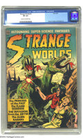 Golden Age (1938-1955):Science Fiction, Strange Worlds #3 (Avon, 1951) CGC VF 8.0 Cream to off-white pages.When Avon came calling with art chores for this issue, s...