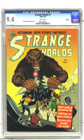 Golden Age (1938-1955):Science Fiction, Strange Worlds #7 Spokane pedigree (Avon, 1952) CGC NM 9.4 Whitepages. Stories by top artists Everett Raymond Kinstler and ...