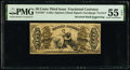 Fr. 1357 50¢ Third Issue Justice Inverted Back Engraving PMG About Uncirculated 55 EPQ
