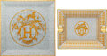 Luxury Accessories:Home, Hermès Set of Two: Mosaique au 24 Plate and Ashtray. Condition: 1. See Extended Condition Report for Sizes.. ... (Total: 2 )