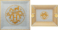 Hermès Set of Two: Mosaique au 24 Plate and Ashtray Condition: 1 See Extended Condition Report fo