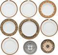 Luxury Accessories:Home, Versace x Rosenthal Set of Nine: Assorted Dishes. Condition: 1. See Extended Condition Report for Sizes. . ... (Total: 9 )