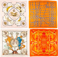 """Luxury Accessories:Accessories, Hermès Set of Four: 90cm Silk Scarves . Condition: 4. 35"""" Width x 35"""" Height . ... (Total: 4 Items)"""
