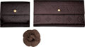 Luxury Accessories:Accessories, Chanel and Louis Vuitton Set of Three: Flower Pin, Sarah Wallet, and Elise Wallet . Condition: 3. See Extended Conditi... (Total: 3 )