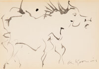 Willem de Kooning (1904-1997) Untitled (Horse) Ink on paper 6 x 9 inches (15.2 x 22.9 cm) Signed lower right: de K