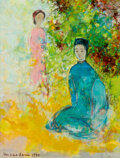 Paintings, Vu Cao Dam (1908-2000). Le Poète, 1970. Oil on canvas. 10-3/4 x 8-3/4 inches (27.3 x 22.2 cm). Signed and dated lower le...