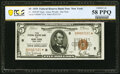 Fr. 1850-B* $5 1929 Federal Reserve Bank Note. PCGS Banknote Choice AU 58PPQ