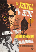 """Movie Posters:Horror, Dr. Jekyll and Mr. Hyde (Europa Film, R-1950s). Flat Folded, Very Fine+. Swedish One Sheet (27.25"""" X 39.25""""). Horror.. ..."""