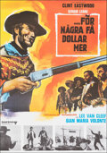 """Movie Posters:Western, For a Few Dollars More (United Artists, R-1975). Very Fine on Chartex. Swedish One Sheet (27.5"""" X 39.25"""") Vanni Tealdi Artwo..."""