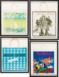 Luxury Accessories:Home, Neiman Marcus Fortnight Set of Four Vintage Framed Shopping Bags. Condition: 2 . See Extended Condition Report for Siz... (Total: 4 )