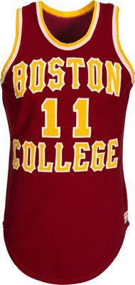 1978-79 Jim Sweeney Game Worn Boston College Eagles Jersey Used During The Point-Shaving Season
