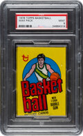 Basketball Cards:Unopened Packs/Display Boxes, 1978 Topps Basketball Unopened Wax Pack PSA Mint 9. ...