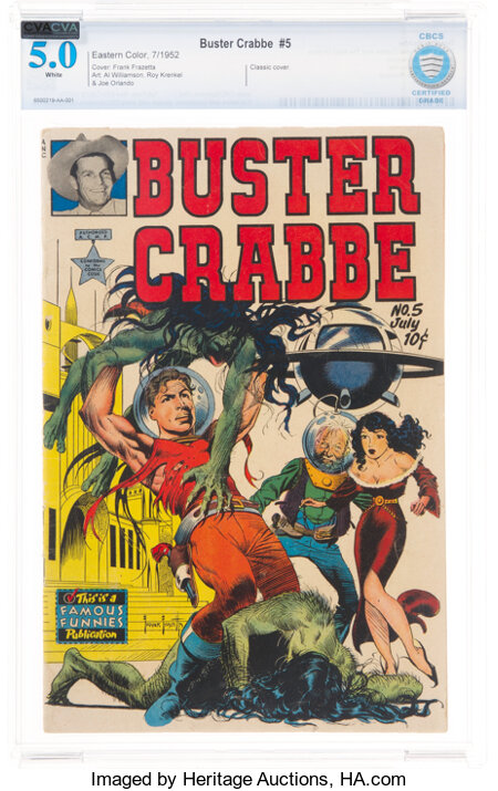 Buster Crabbe #5 (Famous Funnies Publications, 1952) CBCS VG/FN 5.0 White pages....