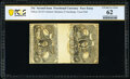 Fractional Currency:Second Issue, Milton Unlisted 25¢ Second Issue Experimental Pair PCGS Banknote Uncirculated 62.. ...