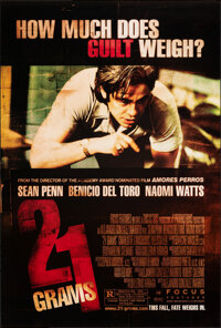 "21 Grams (Focus Features, 2003). Rolled, Very Fine. One Sheets (3) (27"" X 40"") DS Advance, 3 Styles. Crime..."