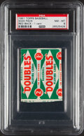 Baseball Cards:Unopened Packs/Display Boxes, 1951 Topps Red Back Baseball 1-Cent Unopened Pack PSA NM-MT 8. ...