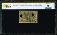 Milton 2E25F.3a 25¢ Second Issue Experimental PCGS Banknote Choice About Uncirculated 58
