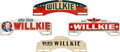 Political:3D & Other Display (1896-present), Wendell Willkie: Four Campaign License Plates. ... (Total: 4 Items)