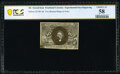 Fractional Currency:Second Issue, Milton 2E10F.4d 10¢ Second Issue Experimental PCGS Banknote Choice AU 58.. ...