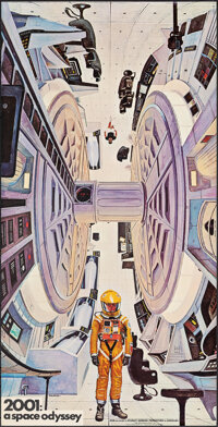 """2001: A Space Odyssey (Personality Posters Mfg. Co., 1968). Rolled, Very Fine-. Commercial Poster (20.25"""" X 40""""..."""