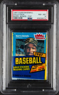 Baseball Cards:Unopened Packs/Display Boxes, 1987 Fleer Baseball Unopened Cello With Barry Bonds Top Showing PSA NM-MT 8....