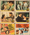 """Movie Posters:Drama, Boom Town (MGM, 1940/R-1956). Very Good/Fine. Title Lobby Cards (2) & Lobby Cards (4) (11"""" X 14""""). Drama.. ... (Total: 6 Items)"""