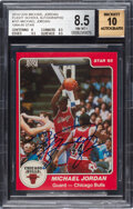 Basketball Cards:Singles (1980-Now), Signed 1984-85 Star Co. Michael Jordan Rookie #101 BGS NM-MT+ 8.5 Auto 10....
