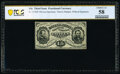 Fr. 1276SP 15¢ Third Issue Narrow Margin Face No Signatures PCGS Banknote Choice About Uncirculated 58