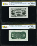 Fractional Currency:Third Issue, Fr. 1272SP 15¢ Third Issue Wide Margin Pair PCGS Banknote Gem Uncirculated 65 PPQ and Choice Uncirculated 64 PPQ.. ... (Total: 2 notes)