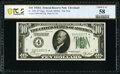 Fr. 2001-D* $10 1928A Federal Reserve Note. PCGS Banknote Choice About Unc 58