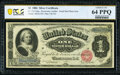 Large Size:Silver Certificates, Fr. 215 $1 1886 Silver Certificate PCGS Banknote Choice Unc 64 PPQ.. ...