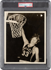 1971-74 Larry Bird Springs Valley High School Original Photograph, PSA/DNA Type 1 - Extremely Early Example!