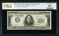 Fr. 2202-B $500 1934A Federal Reserve Note. PCGS Banknote Choice Unc 63