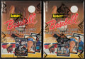 Baseball Cards:Unopened Packs/Display Boxes, 1987 Leaf Baseball Wax Boxes With 36 Unopened Packs Each, Lot of 2.... (Total: 2 items)