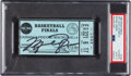 Basketball Collectibles:Others, 1982 NCAA Finals UNC Tar Heels Championship Ticket Stub Signed by Michael Jordan, PSA/DNA Auto 10--Population One!...