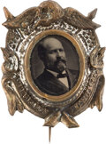 Political:Ferrotypes / Photo Badges (pre-1896), James A. Garfield: Ferrotype Badge. ...