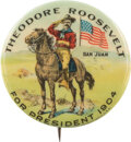 Political:Pinback Buttons (1896-present), Theodore Roosevelt: Classic San Juan Hill Picture Pin....