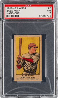 1919-21 W514 Babe Ruth #2 PSA NM 7 - Pop One, Two Higher