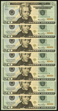 Small Size:Federal Reserve Notes, Low Two Digit Serial Numbers 00000023; 24; 25; 26; 27; 28; 29 Fr. 2093-K $20 2006 Federal Reserve Notes. Gem Crisp Uncirculate... (Total: 7 notes)