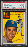 Baseball Cards:Singles (1950-1959), 1954 Topps Ted Williams #250 PSA EX-MT 6. ...
