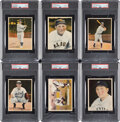 Baseball Cards:Sets, 1936 R312 Color Tinted (Pastel) Photos Complete Set (50) - Rarely Offered as Complete Set. ...