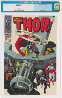 Thor #156 (Marvel, 1968) CGC MT 10.0 White pages