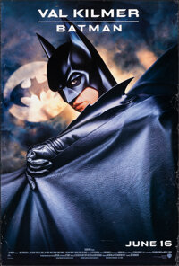 """Batman Forever (Warner Bros., 1995). Rolled, Fine/Very Fine. One Sheet (27"""" X 40.25"""") SS Advance, Page Wood Ar..."""