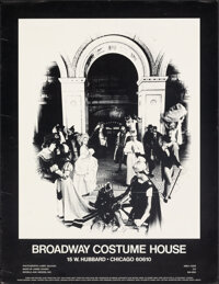 """Broadway Costume House (1970s). Rolled, Fine/Very Fine. Advertising Poster (17.75"""" X 23.25"""") Larry McCann Phot..."""