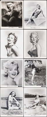 "Marilyn Monroe Lot (20th Century Fox, 1950s). Very Fine. Portrait Photos (8) (8"" X 10""). Miscellaneous. ... (T..."